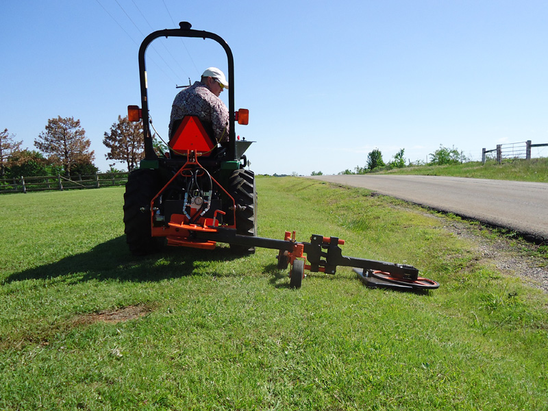 Seniors test their long form mowing machine